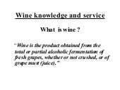 Wine Knowledge