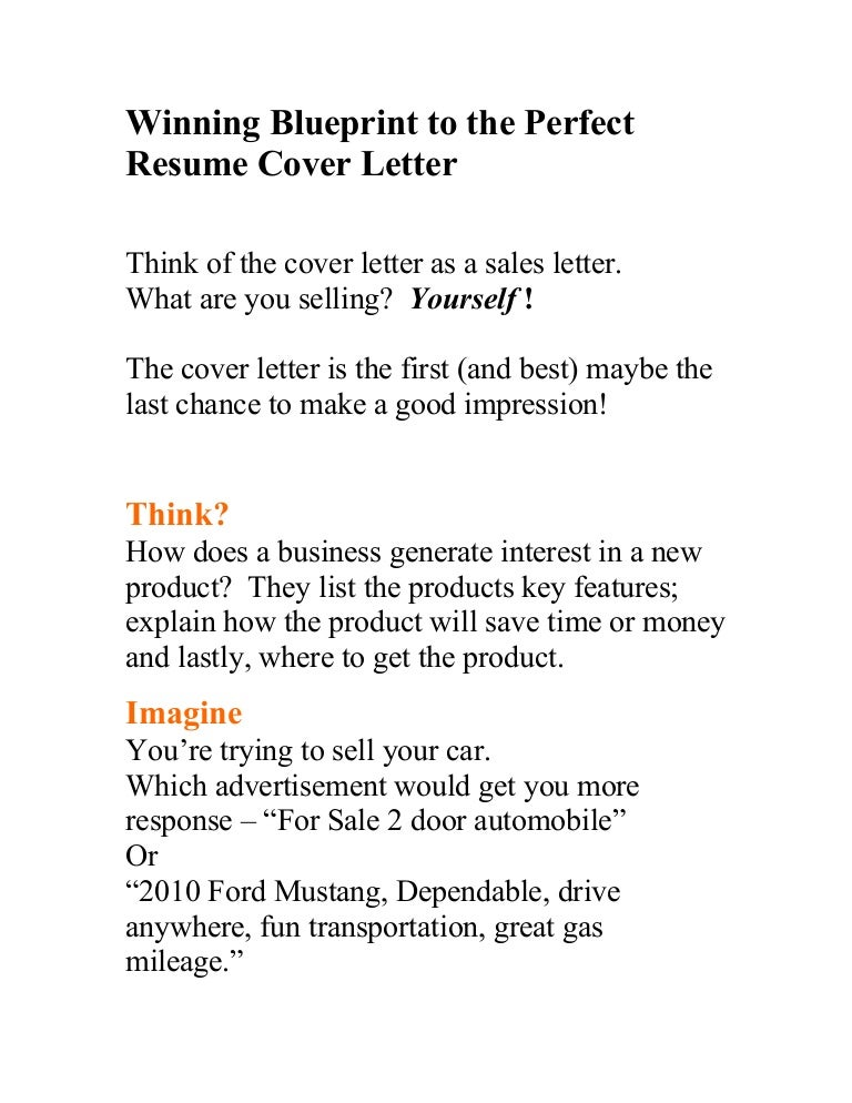 ideal cover letter