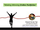 Making Winning Online Portfolios