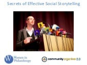 Secrets of Effective Social Storytelling.