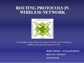 Wireless routing protocols