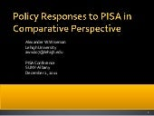 Policy Responses to PISA in Compara...