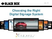 Choosing the Right Digital Signage ...