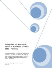 Enterprise 2.0 Survey Finland 2010