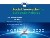 WERNER WOBBE - Social Innovation in...