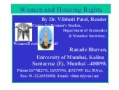Women and housing rights,17 2-2003