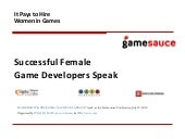 It Pays to Hire Women in Games: Suc...