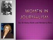 Women in journalism ppt