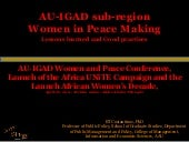 Women in peace making an AU-IGAD St...