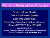 Womenis rights at the workplace 4 5-04