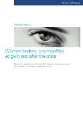 Women leaders, a compeittive edge