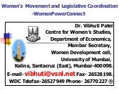 Women's Movement & Legislative Coor...