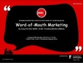 Word-of-Mouth Marketing - Aung Chit...