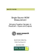 Single Source WOM Measurement