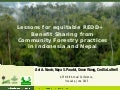 Lessons for equitable REDD+ benefit sharing from community forestry practices in Indonesia and Nepal