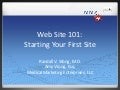 Starting Your First Web Site