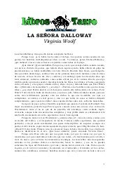 Woolf, Virginia   La Señora Dalloway