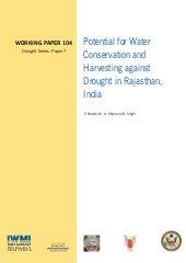 India;  Potential for Water Conserv...
