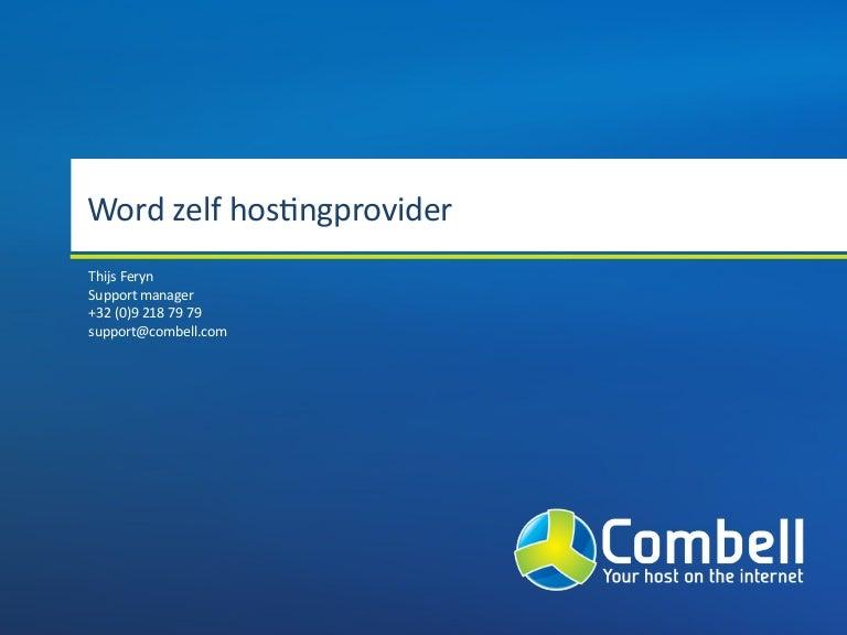 Word zelf hostingprovider