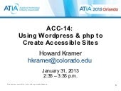 Wordpress & accessibility