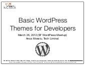 WordPress Theme Development Basics