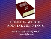 Words common special