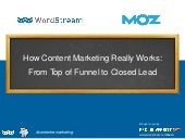 WordStream & Moz Present: How Content Marketing REALLY Works [Webinar]