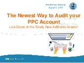 The Newest Way to Audit your PPC Account