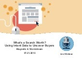 What's a Search Worth?  Using Intent Data to Uncover Buyers