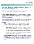 Workday Opens Integration Cloud Platform to Customers and Partners Press Relase