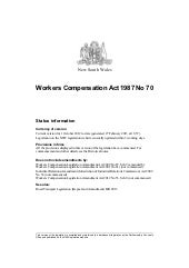 Workers compensation Act 1987