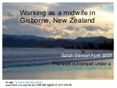 Working As A Midwife In Gisborne, N...