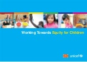 Working towards equity for children