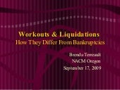 Workouts and Liquidations