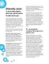 Workplace Diversity 2020