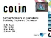 Workshop K8: Colin, kennisontwikkel...