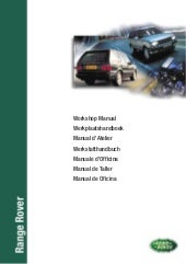 Workshop manual-p38-range-rover