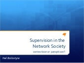 Supervision in the network society