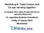 Trade unions and co-ops working tog...