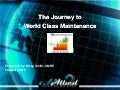 World Class Maintenance WebEx Slides