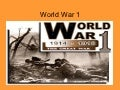 World war 1 (2)