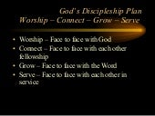 Worship,Connect,Grow,Serve Glorifyi...