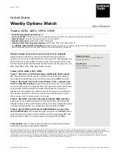 GS Weekly Options Watch - May 11th