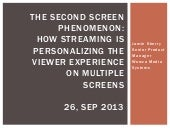 Second Screen Phenomenon