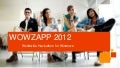 WOWZAPP 2012 - Get Involved!