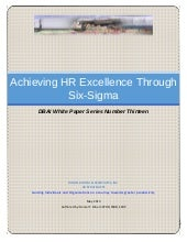 White Paper: Achieving HR Excellenc...
