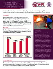 WPI Fact Sheet: Ordinary People and Portable Fire Extinguishers