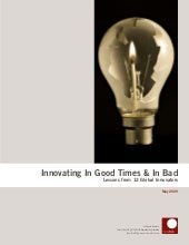 Innovating in Good Times & in Bad