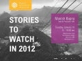 Stories to Watch 2012