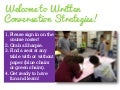 Written Conversation Strategies Workshop NHS October 2014 by Buffy Hamilton and Jennifer Lund